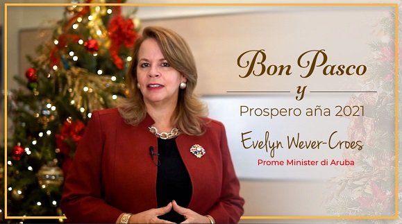 Kerstkaart Minister-President mr. Evelyn Wever-Croes